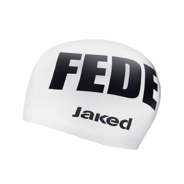 Casca inot Jaked adult, FEDE, alb